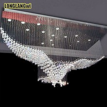 Large size bird design Modern LED crystal chandelier light large contemporary chandeliers hall lights eagle lighting AC90-260V