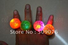 Free shipping 1152pcs/lot TPR led basketball finger light LED Flash Light Ring Blinking Party Soft Rave Glow Jelly Finger Rings