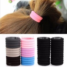 24Pcs Fashion Women Girls Ties Elastic Hair Band Rope Ring Hairband Ponytail(China)