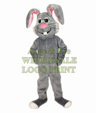 grey bunny mascot costume wholesale for sale cartoon Easter hare bunny rabbit theme anime cosplay costumes carnival fancy dress