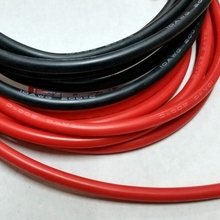 10AWG soft high temperature silicone wire 0.08mmx1050 core wire Model aircraft power cable 2meter/lot