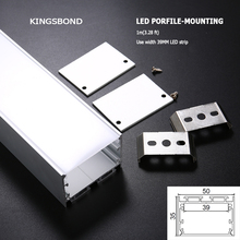 10pcs/lot big size recessed aluminum led profile without flange as pendent light for multi row led strip 5630 5050(China)