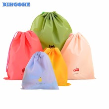 5pcs/set Cartoon Waterproof Drawstring Pouch Storage Bags Travel Shoe Laundry Makeup Cosmetic Underwear Camping Organizer -48(China)