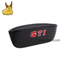 Fashion Black Carbon Fiber Cloth Storage Bag And Car Container Catcher Case For GTI Logo Volkswagen Golf Jetta CC Car Supplies