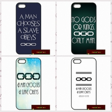 man chooses a slave obeys Cover case for iphone 4 4s 5 5s 5c 6 6s plus samsung galaxy S3 S4 mini S5 S6 Note 2 3 4  S0275