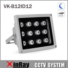 80M Aluminium Automatic Auxiliary Infrared Light with 12LED 60/90Degree IR Illuminator Light for Security Camera