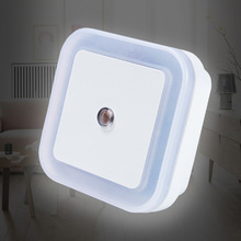 art Lighting In White Yellow Blue Red newest LED night light Control Auto Sensor Light For Home Indoor AC110V 220V EU US
