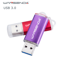 Wansenda USB 3.0 Usb Flash Drives real capacity metal case Pen Drive 4GB 8GB 16GB 32GB 64GB 128GB original portable Pendrives