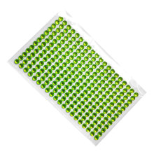 Nail Art Sticker 6mm Rhinestone Acrylic green crystal Self Adhesive Hair decoration Wall Furniture decoration Stickers(China)