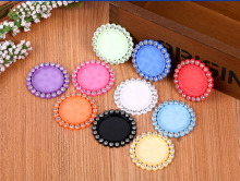 Free shipping 50pcs 10colors inner 25MM flat back resin cameo frame mixed(China)