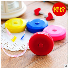 Telescopic tape Plastic tape measure 1.5 meters soft tape measure Lovely mini round tape 22 g