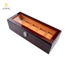 Brand Luxury Solid Wood 5 Grid Watch Storage Cases Showing Display Watch Box Perfect Recollection Wristwatch Boxes As Gift