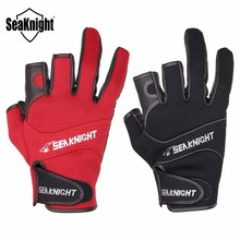 SeaKnight SK03 Fishing Gloves 1Pair/Lot Practical 3 Finger Cut Design L XL XXL Outdoor Breathable Gloves Neoprene&PU Material(China)