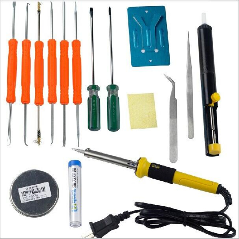 17 in 1  DIY 40W Electric Soldering Starter Tool Kit  Set  Including 17 Accessories Free Shipping<br>