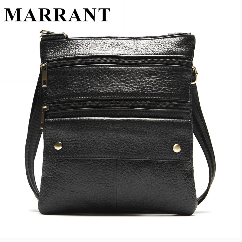 MARRANT Men Bags Genuine Leather Man Coin Purse Shoulder Bag New Zipper Style Men Messenger Bags CrossBody Shoulder Handbag 170<br><br>Aliexpress