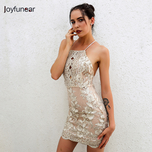 Buy Women Halter Backless Halter Backless Sequins Dresses Fashion Summer New Woman Sexy Slim Party Dress Vintage Tank Club Dresses