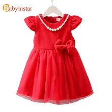 Babyinstar Spring Autumn Girls Dress Fashion Cheongsam Dress Children's Clothing Outerwear 2017 New Kids Girl Dresses
