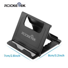 Rocketek Adjustable Foldable Cell Phone Tablet Desk Stand Holder Smartphone Mobile Phone Bracket for iPad Samsung iPhone