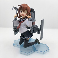 Kan Colle Hibiki Action figure Kantai Collection Ikazuchi Inazuma Kneeling.Ver PVC 12cm model brand new ship cute anime doll(China)