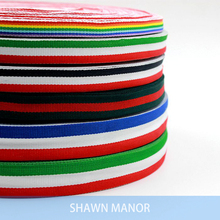 1/1.5/2/2.5cm Width Striped Polyester Webbing Ribbon Sewing Tape For DIY Garment Accessories Bags 10Meters Per Lot(China)