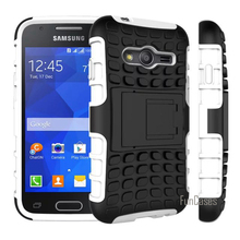 For Samsung Galaxy ACE 4 NXT G313 G313H Case Hybrid Kickstand Rugged Rubber Armor Hard PC+TPU 2 In 1 StandFunction Cover Cases(China)