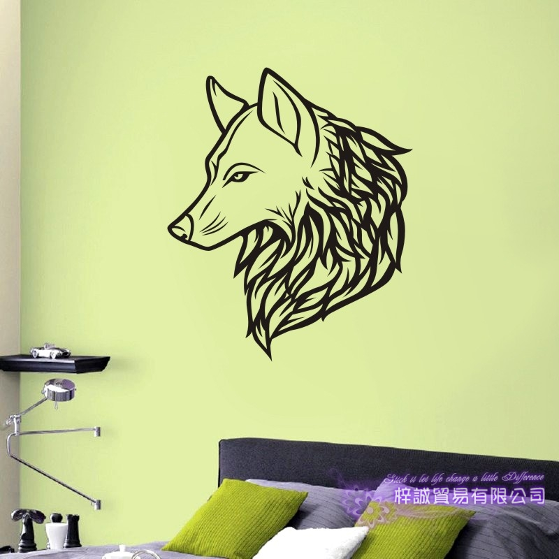 DCTAL Wolf Wall Sticker Wolf Decal Posters Vinyl Wall Art Decals Pegatina Decal Decor Mural Wild Animal Sticker