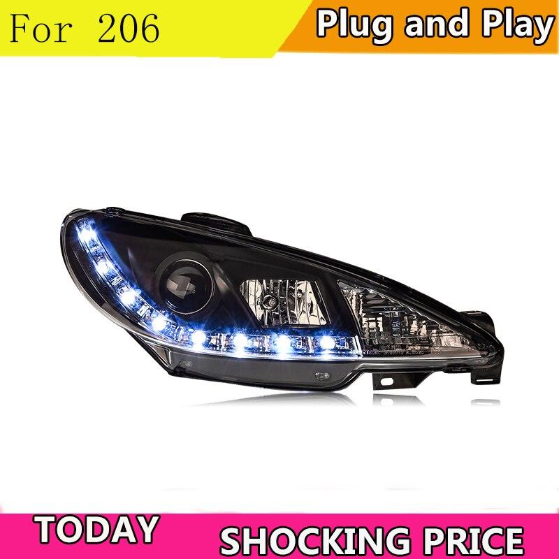 Citroen C4 2004-2008 Black Twin Angel Headlights Fits