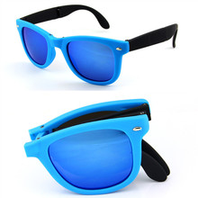 8 Colors Foldable Sunglasses With original BOX Folding Glasses With Case Men Women Brand Design Mirrored Sun Glasses Folded