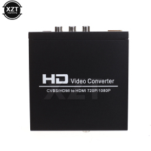 Original HDMI to SCART Composite Video Converter 1080P Video Audio Upscale Converter AV Signal Adapter HD Receiver TV DVD(China)