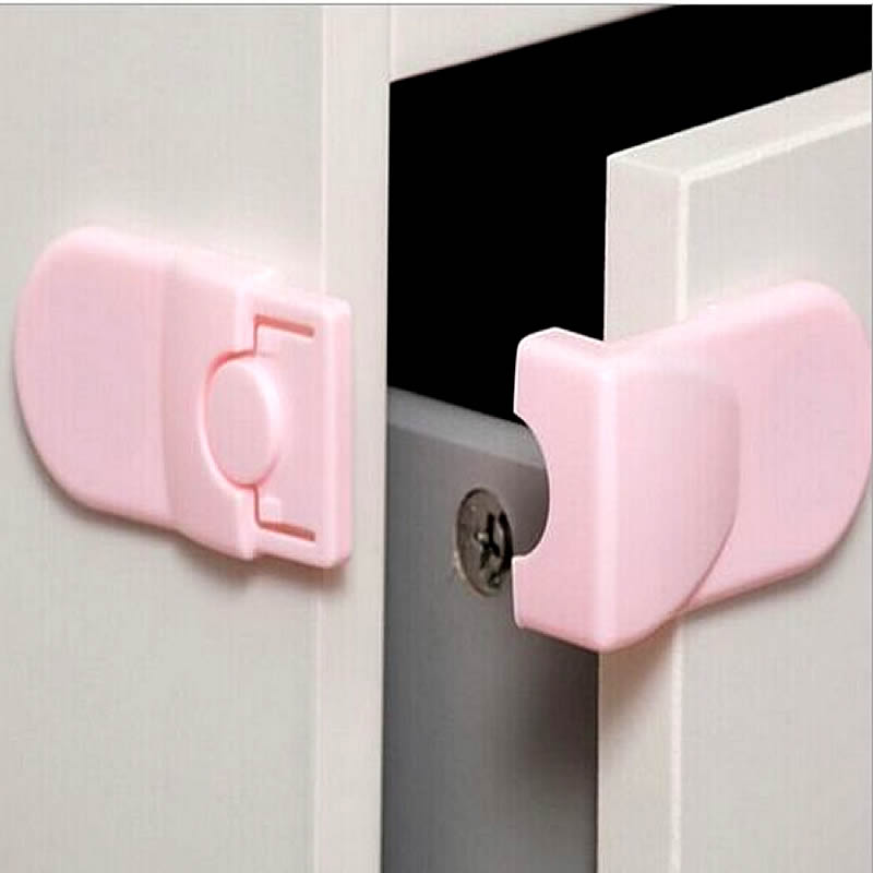 4pcs Baby Child Pet Safety Lock Fridge Toilet Drawer Cabinet Cupboard Door