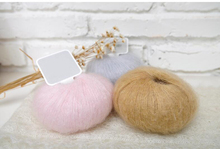 1Pc=25g Angola Amorous Feelings Thin Mohair Yarn Hand Knitting Plush Fine Wool Crochet Yarn Villi Plump Delicate Smooth
