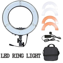 "Photography Lighting RL-12 12"" 180 LED Camera Ring Light Video Photo phone Panel Lamp CRI 83+ Color 5500K Dimmable Studio"
