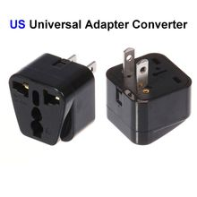 200pcs EU AU UK To US Plug Adapter Australia European To America Universal AC Travel Power Adapter Converter Outlet