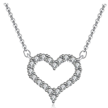 Famous Luxury Classic Jewelry LOVE Heart Necklace Pendants Silver Plated Crystal From Swarovski Christmas Gifts For Women A138