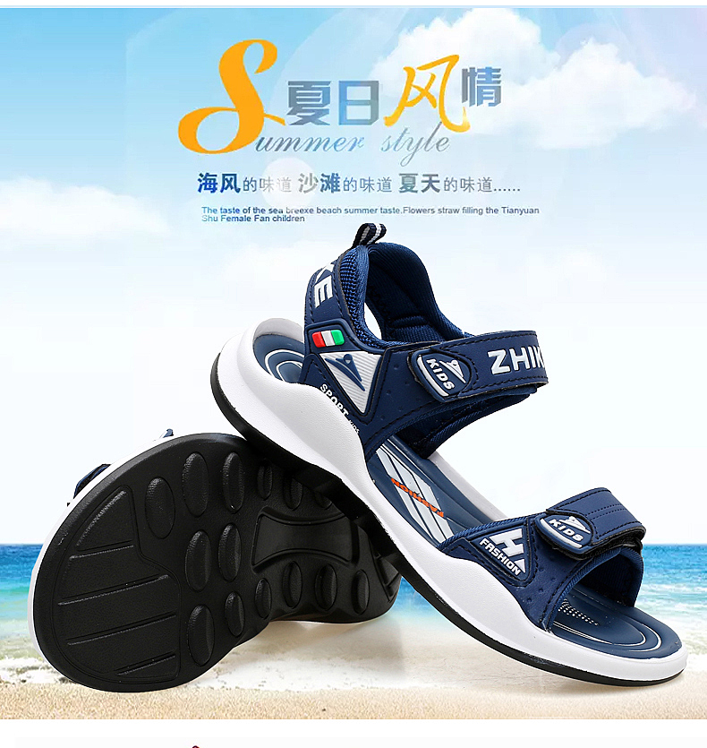 Children's Shoes Summer Open Toe Boys Sandals Sports 11 Non-slip 12 Primary School Students 15 Years Old Children's Beach Shoes 9 Online shopping Bangladesh