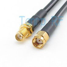 Freeshipping!  3FEET  RF Pigtail jumper coaxial cable RG58 100CM RP-SMA male plug to SMA female jack  Wholesale