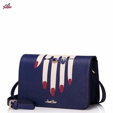 Just Star Brand Design Hand Care lady Diamonds Ring PU Women Leather Girls Shoulder Crossbody Bag