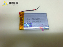 453550 900mAh 3.7v rechargeable lithium ion polymer battery pack pcb protection for mining light(China)