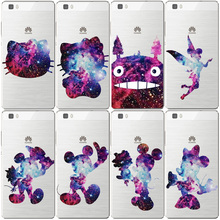 Fashion cool Hello Kitty Case For fundas Huawei P8 Lite Cute Mickey Hard PC cover for coque Huawei P8 Lite