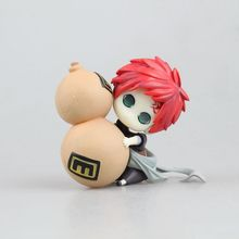 Anime Naruto Gaara Pacifier Ver PVC Action Figure Collectible Model doll toy 8cm(China)