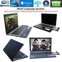 8GB RAM+1000GB HDD+32GB USB FLASH Drive 15.6inch Intel Celeron J1900 Quad Core Laptop Windows 10 Notebook DVD-RW For Office Home(China)