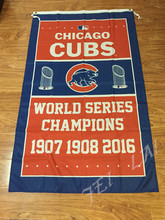 2016 world series champions Chicago Cubs flag 3ftx5ft with metal Grommets chicago cubs champions flag