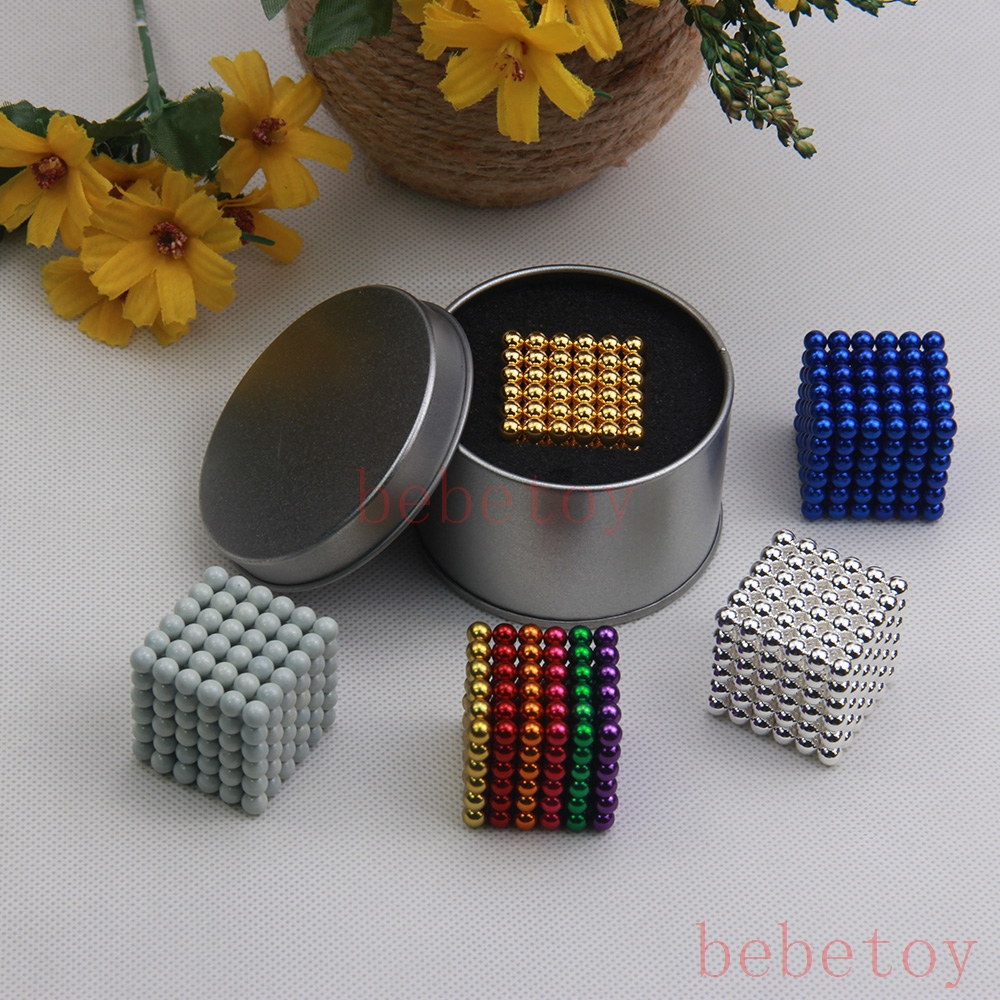 216pcs 5mm neodymium magnetic balls spheres beads magical cube magnets puzzle birthday present for children - with metal box<br><br>Aliexpress