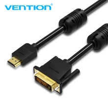 Vention HDMI To DVI Cable DVI-D 24+1 Pin Support 1080P 3D High Speed HDMI Cable For LCD DVD HDTV XBOX Projector PS3 1m 2m 3m 5m(China)