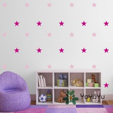 2 color multi pack Stars Wall Stickers Home decoration accessories Kids Room Wall Decal DIY baby bedroom DIY Decor poaster WA-2