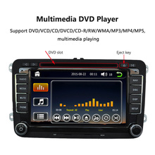 "7"" 1080P HD Car DVD Player GPS Navigation BT AutoRadio 2 Din in Dash Car PC Stereo Head Unit for VW +Free Map +Free Card(China)"
