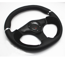 330mm Modified M0M0 wrapped with genuine suede leather automobile race steering wheel(China)