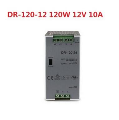 POWER SUPPLY DIN RAIL 120W 12V 10A - Switching Power Supplies - DR-120-12<br>