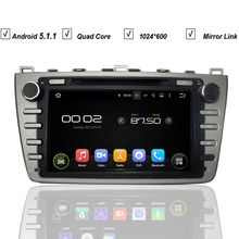 8''Car DVD GPS Player For Mazda 6 Mazda6 2008-2012 Android 5.1 Navigation MP3 Radio RDS RK3188 Quad Core+1GB RAM+16GB RAM