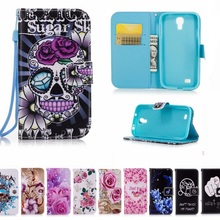 painting Leather Flip Wallet Soft Case For Samsung Galaxy S4 S 4 IV SIV Cover GT i9500 i9508 i9505 Phone Cases For Samsung S4